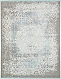 Vintage Castle Collection Rugs Light Blue 8' x 10' FT Area Rug - Modern & Traditional Design - Home Décor