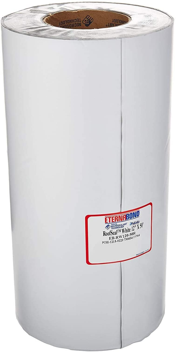 "EternaBond 12"" x 10' White Mobile Home RV Repair Tape - 10 feet, 10 Foot, 12 Inches, 12"""
