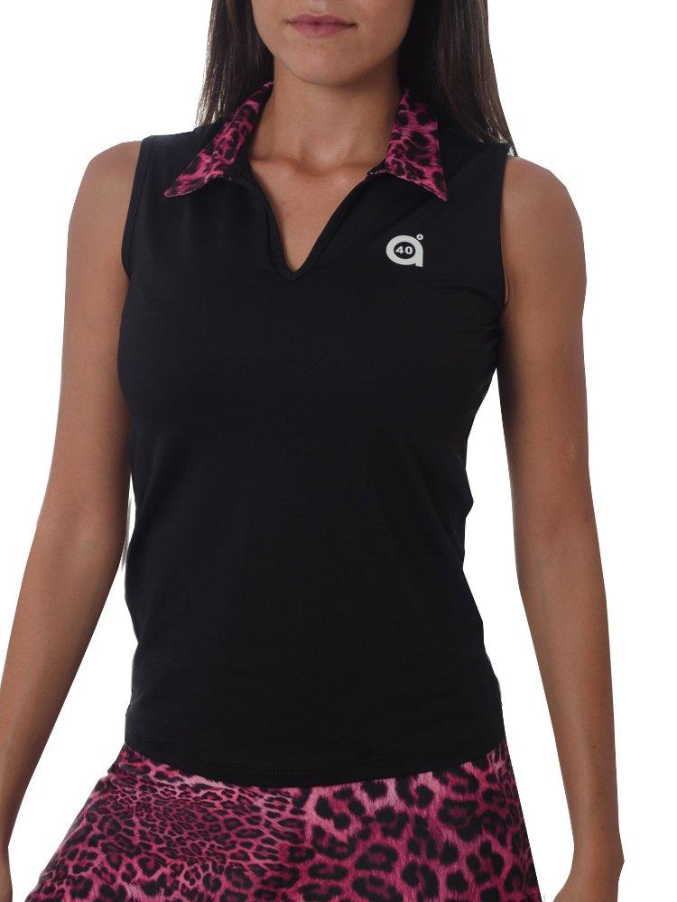 Sport Style a40grados & sisa Puma-Polo maniche da donna, colore: nero, taglia: S 012016102