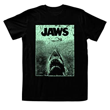 4b2f5d4b160b Amazon.com  American Classics Men s Jaws Green T-Shirt  Clothing