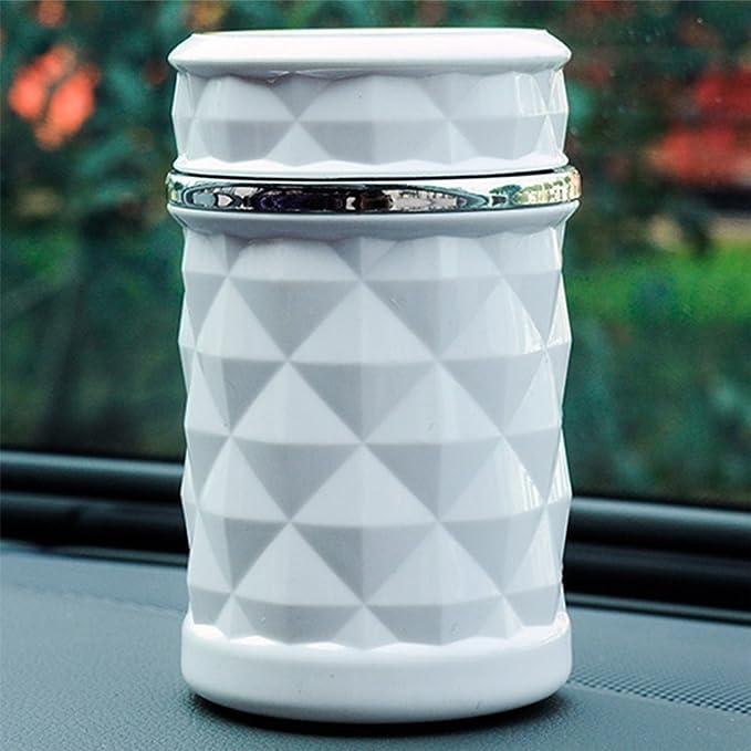 Emorias 1 X Aschenbecher Für Das Auto Tragbar Mit Led Beleuchtung Waschbar Mit Mülleimer Aufbewahrungszubehör Mit Halterung Weiß Baumarkt