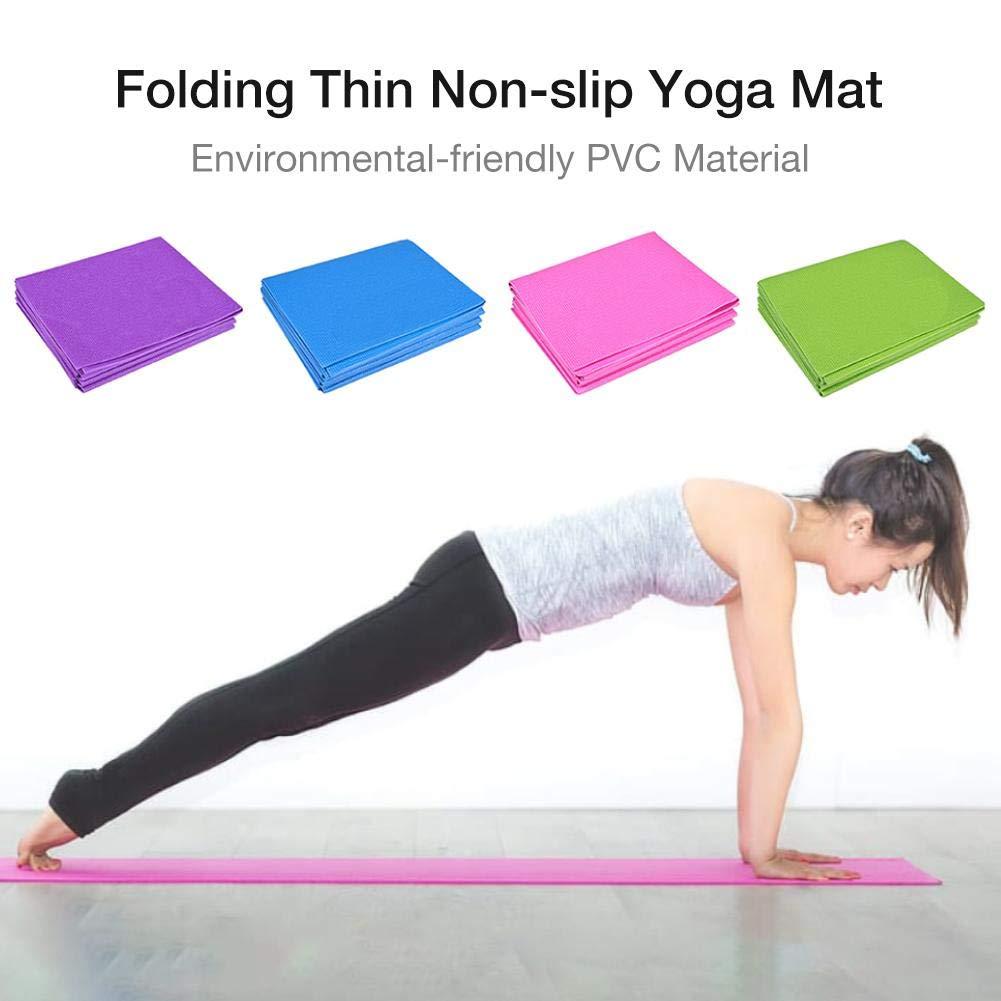 SunniY 4 Color Yoga Mat - Folding Travel Fitness & Exercise ...