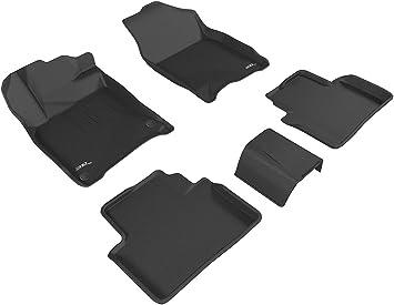 Tan Kagu Rubber 3D MAXpider Second Row Custom Fit All-Weather Floor Mat for Select Honda Insight Models