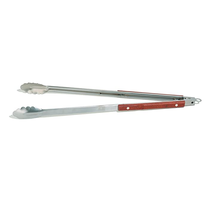 Outset QB22 Rosewood Collection Extra-Long Locking Tongs, 22""