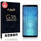 J&D Compatible for 2-Pack Galaxy A9 2018 Glass Screen Protector, [Tempered Glass] [Not Full Coverage] HD Clear Ballistic Glass Screen Protector for Samsung Galaxy A9 (Release in 2018) Screen Protector