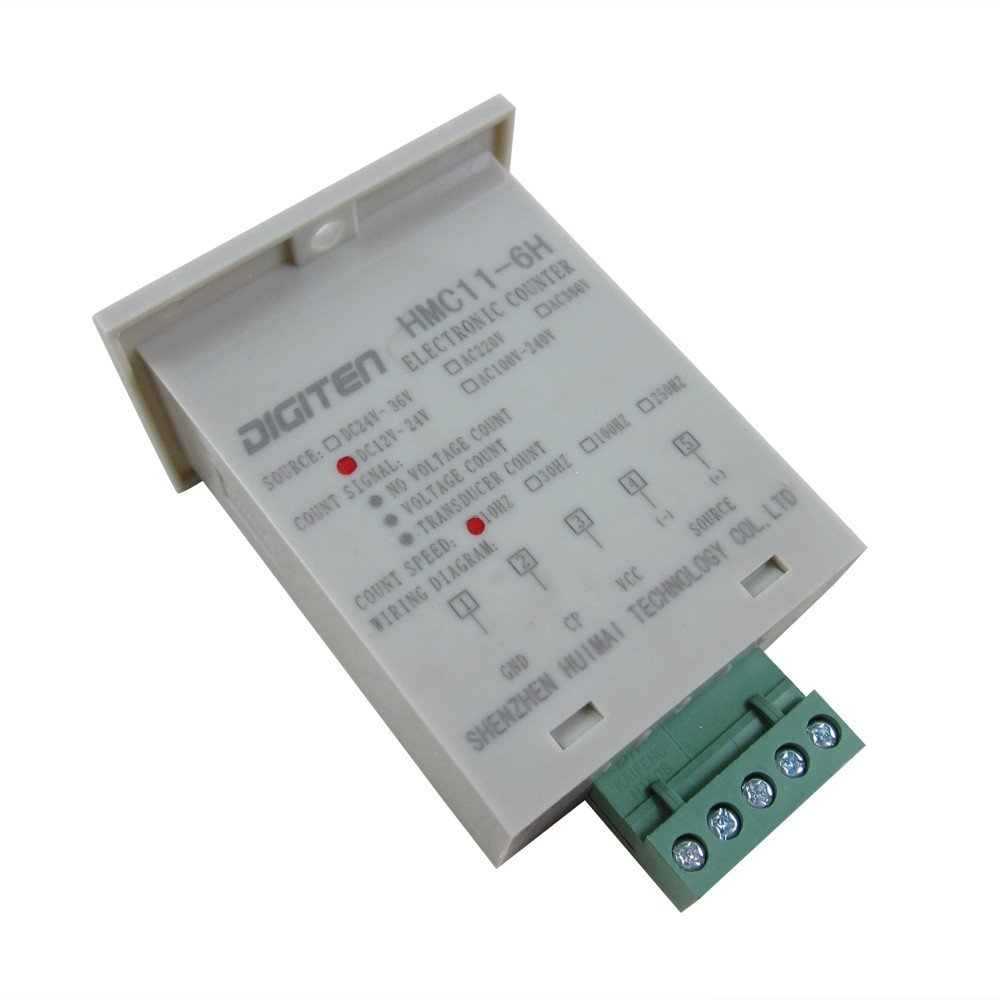 Digiten 0 999999 12 24vdc Digital Led Counter Photoelectric Switch Wiring Sensor Reflector Automatic Conveyor Belting
