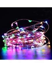 EShing 33feet 100 LEDs Copper Wire Fairy String Lights with UL Power Adapter
