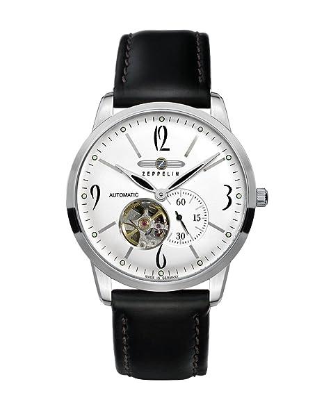 Zeppelin 73601 - Reloj de caballero automático, correa de piel color negro