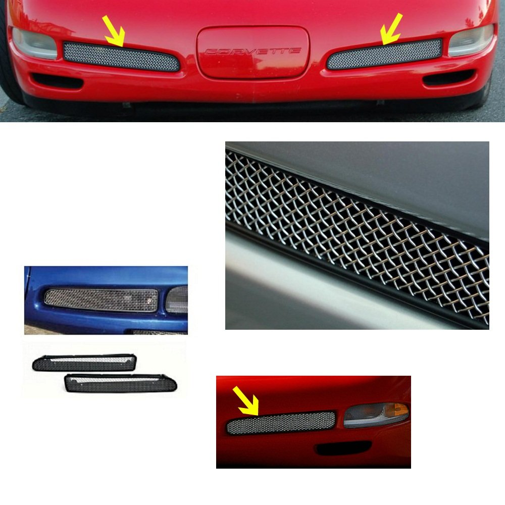 C5 ZO6 Style Corvette Fog Light Screen With Housing Includes Both Sides Fits All 97 through 04 Corvettes MIDWEST CORVETTE 845681