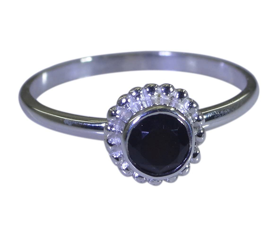 Jewelryonclick Real Fashion Black Onyx Silver Wedding Rings For Womens Gemstone Size 4,5,6,7,8,9,10,11,12