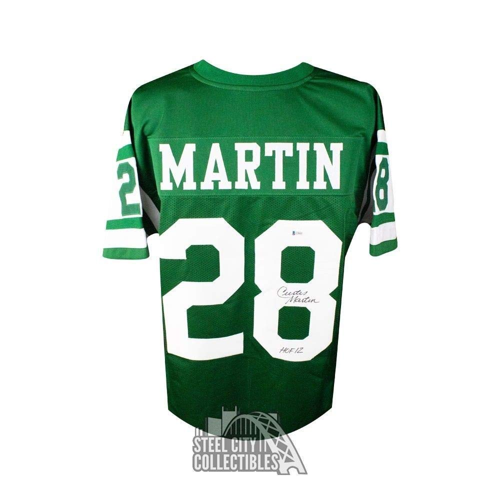 the latest 8e731 50b9f Curtis Martin HOF 12 Autographed Signed Memorabilia New York ...