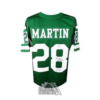 the latest fae75 c6dd1 Curtis Martin HOF 12 Autographed Signed Memorabilia New York ...