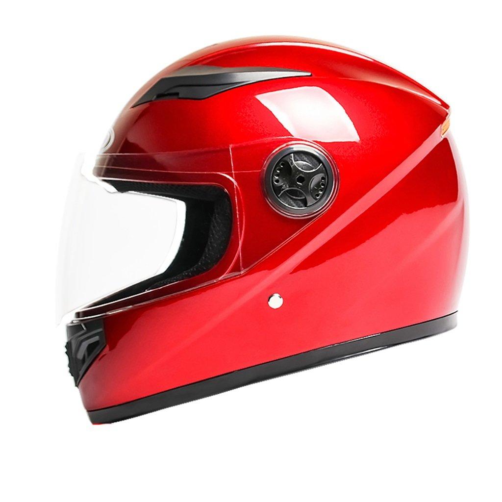 ヘルメット ヘルメット/メンズMオートバイヘルメット夏日保護ヘルメットフォーシーズンユニバーサルマルチカラー軽量パーソナリティファッションヘルメット (色 : 赤) 赤