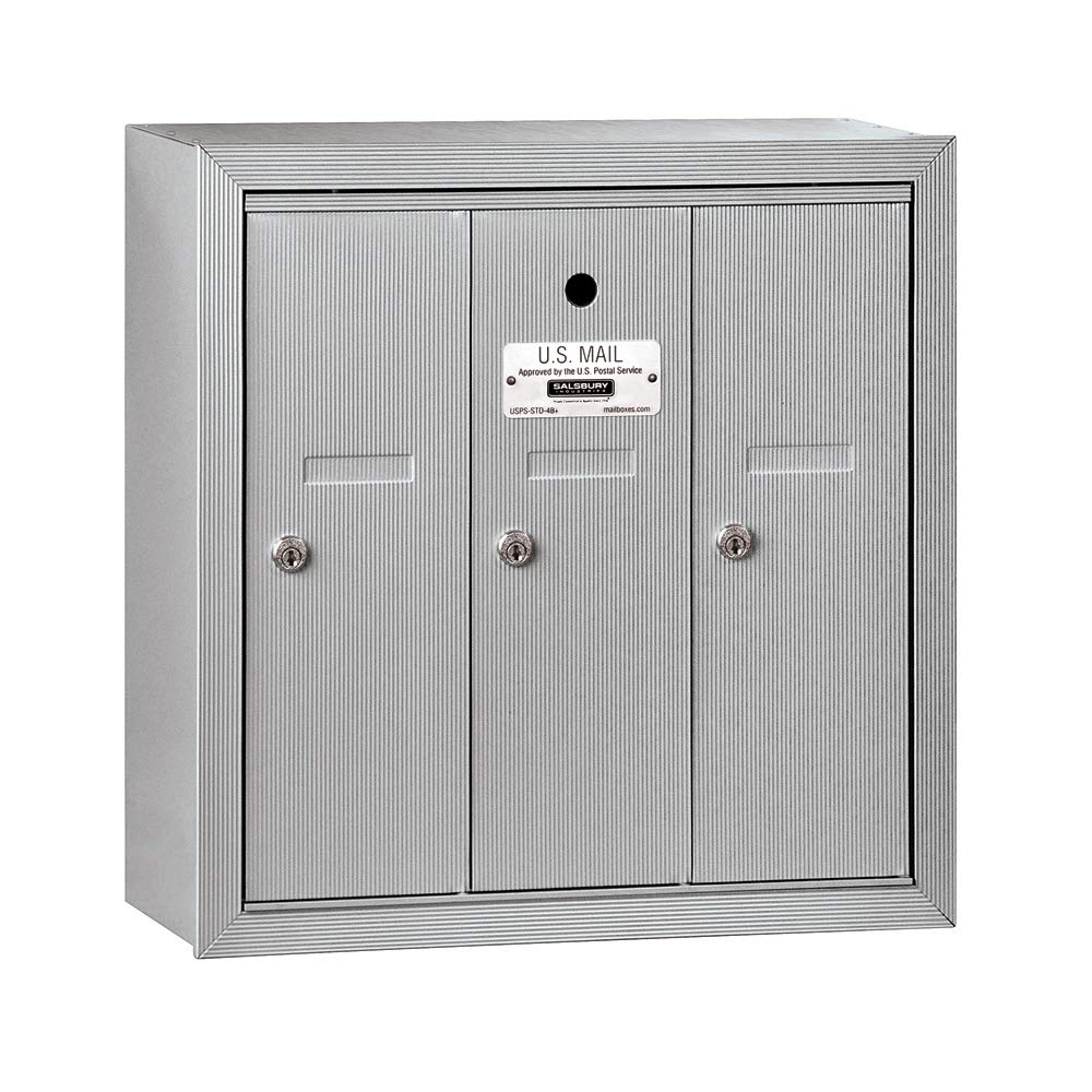 Salsbury Industries 3503ASU Surface Mounted 3 Doors and USPS Access Vertical Mailbox