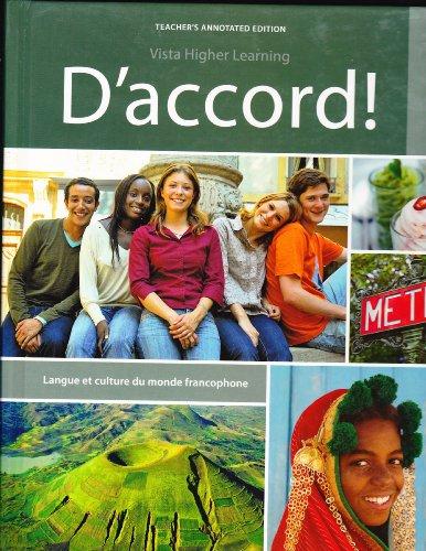 D'accord! 3: Langue et culture du monde francophone, Teacher's Annotated Edition (3)