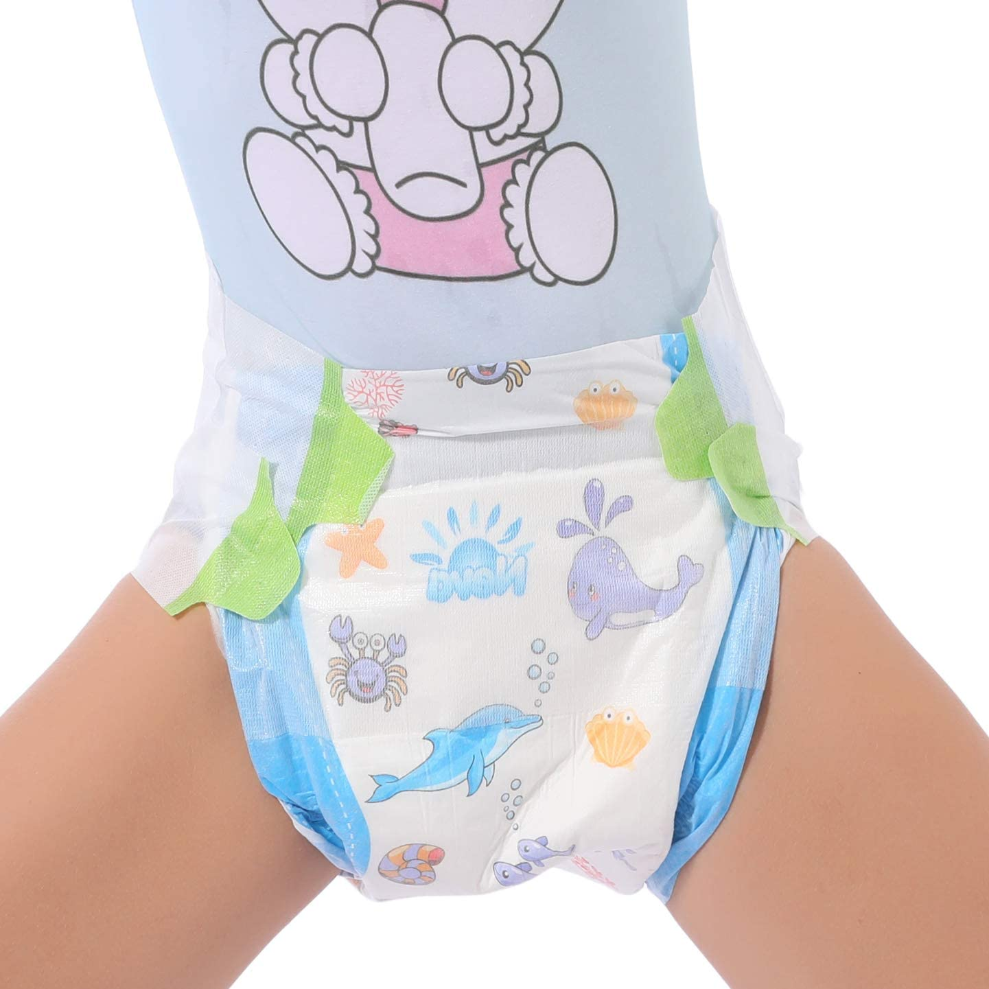 TEN@NIGHT Adult Baby Diaper Protective Briefs One time Diaper ABDL Incontinence Underwear DDLG 8 Pieces