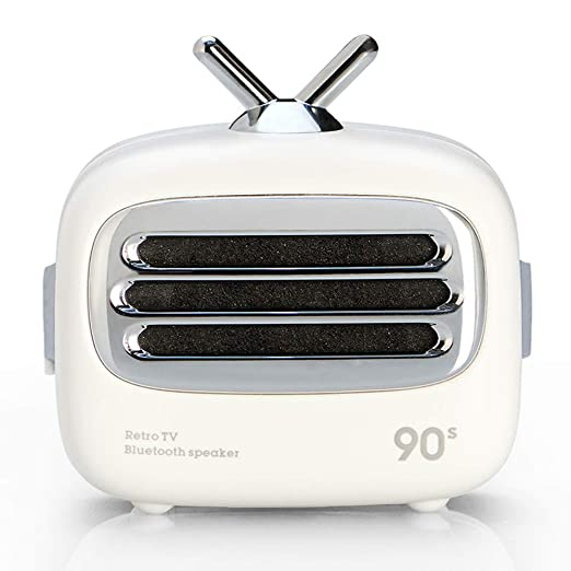 CLAW A2 Retro Portable Bluetooth Speaker with Mic  White  Speakers