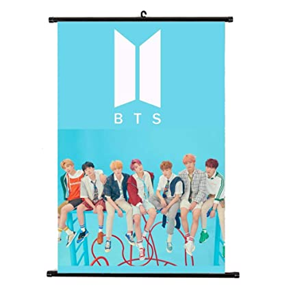 Kpop Bangtan Boys Bts Love Yourself Answer Wall Scroll Poster Jungkook Suga Jimin Hang Up Fabric Photo Picture Beads & Jewelry Making Jewelry & Accessories
