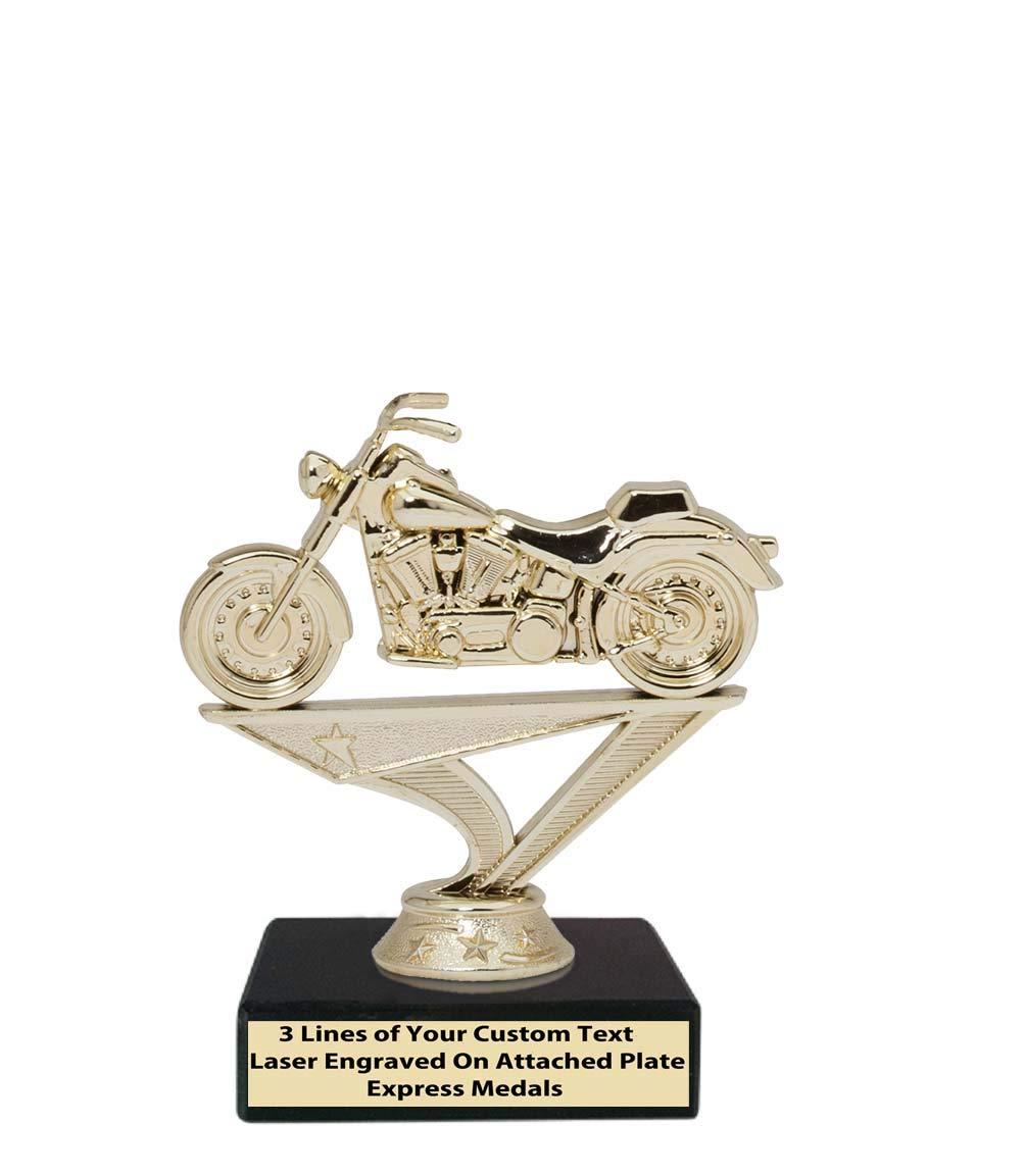 エクスプレス メダル 2位 3位 50個パック 優勝 チャンピオン カスタム オートバイ トロフィー 本物のブラックマーブルベース 刻印プレート付き 29 B07KX1DKXQ  50