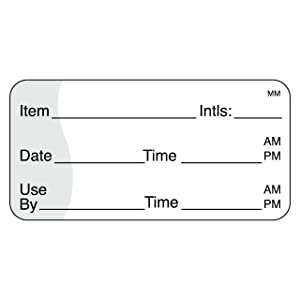 "DayMark Use by Removable Label, 1"" x 2"" (Roll of 1,000)"