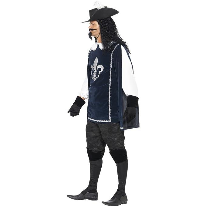 Disfraz de mosquetero DArtagnan para hombre, Medieval, Guardia ...