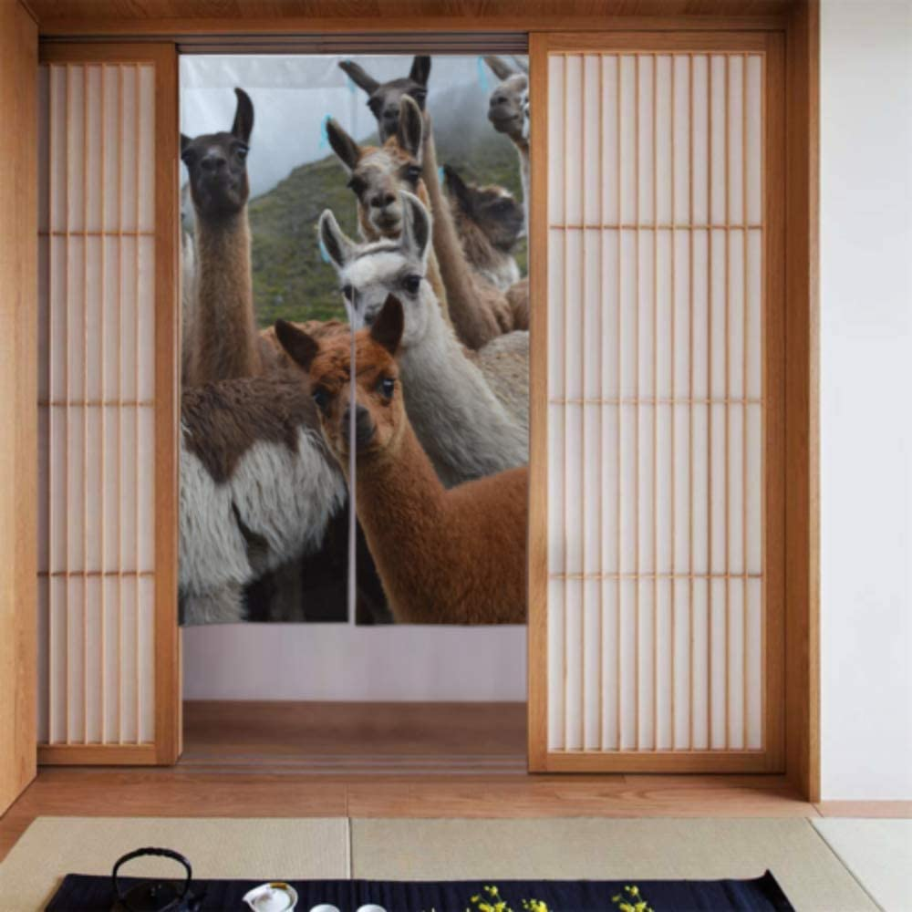 Longyuu Home Door Curtain Colorful Group Pack Of Alpacas Valance Curtains For Kitchen Door Curtain Bedroom Long Type For Home Kitchen Door Decoration 34 X 56 Inch 86x143cm Amazon Co Uk Kitchen Home