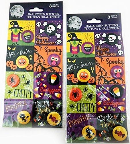 Halloween Buttons (2 pack)