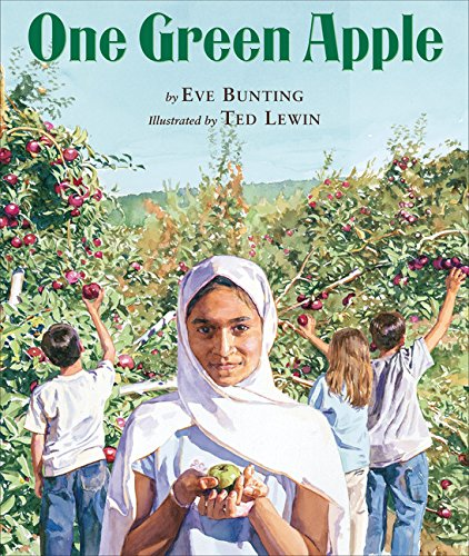 Girl in apple orchard book cover