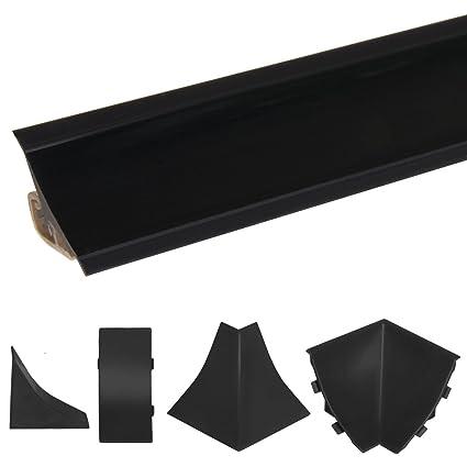 HOLZBRINK Acabado de Copete de Encimera Negro Listón de Acabado PVC Copete de Encimeras de Cocina