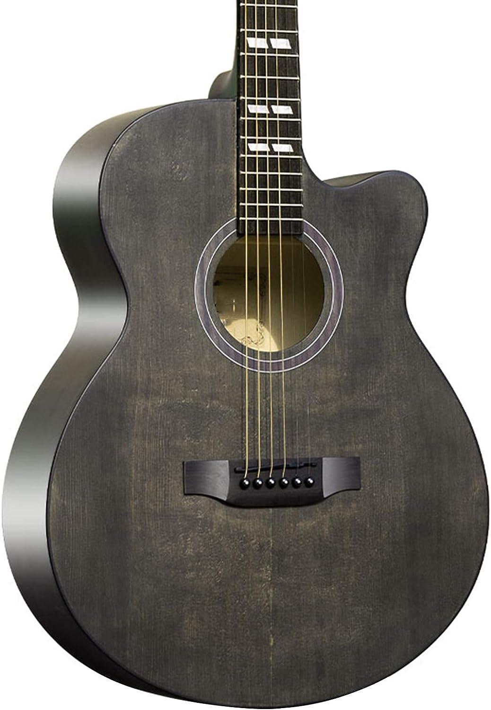 FENGSR Guitarra clásica de 41 Pulgadas para Principiantes, Alto Brillo, Estructura Liviana, Madera, Rendimiento de Aprendizaje, Traje Principiante, 2 Colores (Color : Gray, Size : 40in)