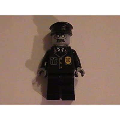 LEGO Zombie Policeman Cop Monster Custom Minifigure: Toys & Games