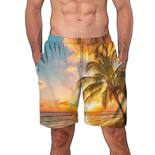 SweatyRocks Mens Summer Quick Dry Printed Beach Board Short Bathing Suits Swim Trunks
