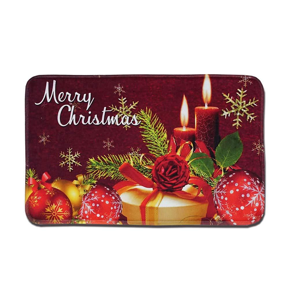 Lelili Clearance Christmas Bathroom Mat Merry Chtistmas Style Entrance Door Indoor Bathtub Carpet Doormats (15.7x24inch, E)