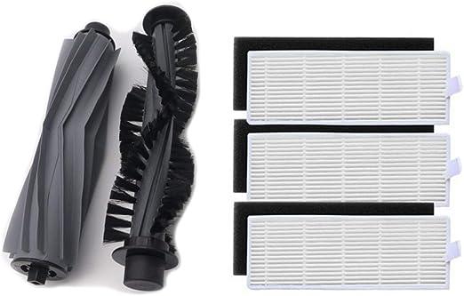 LIRR - 2 Rodillos de cerdas para el cepillo principal y 3 filtros ...