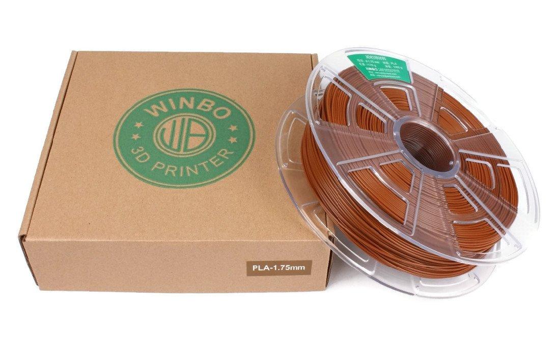 Filamento PLA 1000g 1,75mm para impresoras 3D Marr/ón