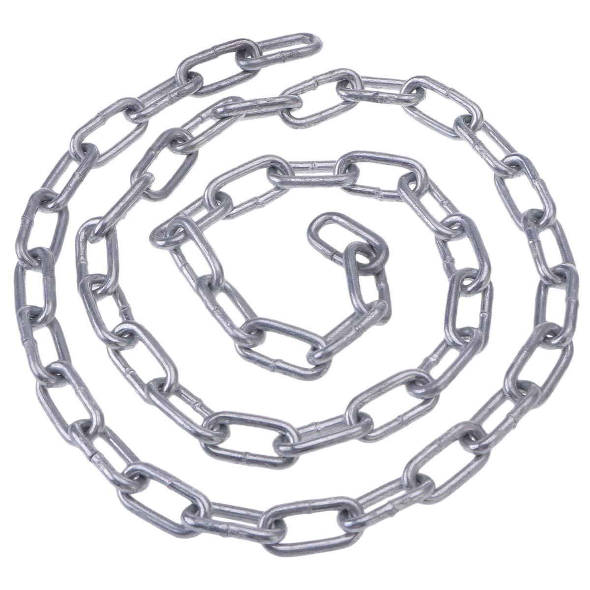 Yardwe Catena a Spirale Rinforzata con Rivestimento in Acciaio al Carbonio Catena zincata