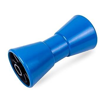 """8/"""" Kielrolle mit Achse massiv blau Bootsanhänger Rolle Bootstrailer Trailer Boot"""