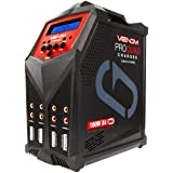 Venom Pro Quad LiPo Battery Fast Charger | 4 Ports at 100W Each | AC DC 7A Fast NiMH LiHV LiPo Balance Charger Discharger