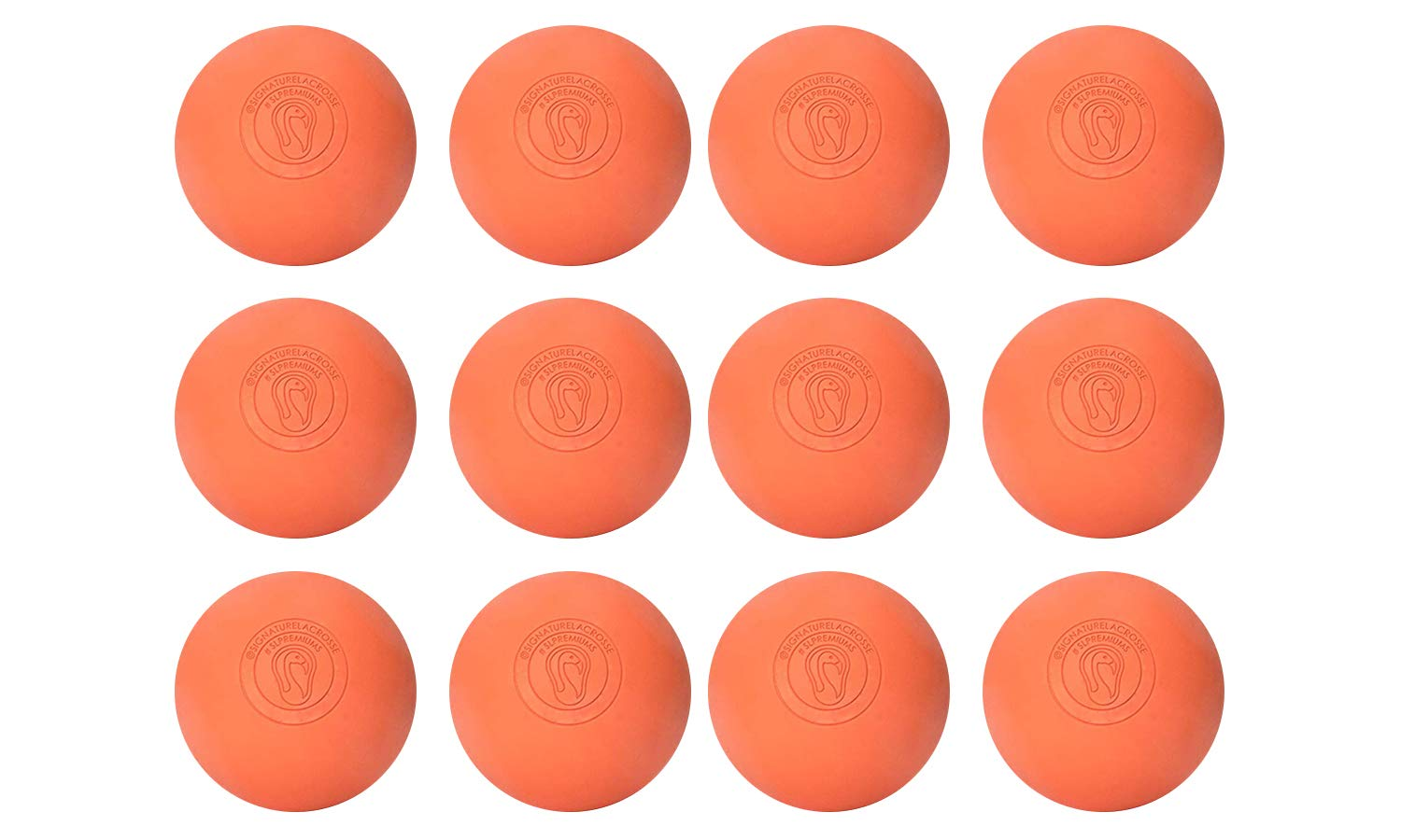 Signature Lacrosse Ball Set Muscle Knot Remover Firm Rubber -Scientifically Designed for Durability Myofascial Release Tools Back Roller Massage Balls