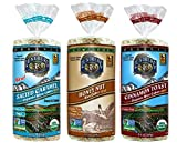 Lundberg Gluten-Free Non-GMO Rice Cakes 3 Flavor Variety Bundle, (1) Each: Salted Caramel, Honey Nut, and Cinnamon Toast, 9.5-10 Ounces (3 Total)