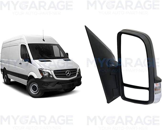 Right Side Wing Mirror Glass /& Base Compatible With Sprinter 1995-2006 OEM A0018110433