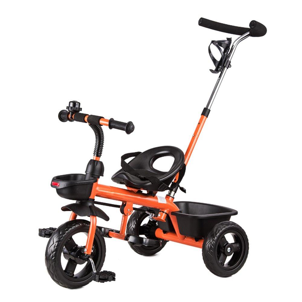マチョン 自転車 子供の三輪車バイク1-3歳のベビーバイクベビーカー2-4-6歳 B07DS7S8DS Orange-1 Orange-1