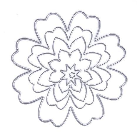 Basic flores troqueles de corte de metal Tarjeta de papel álbum de, diseño de plantillas
