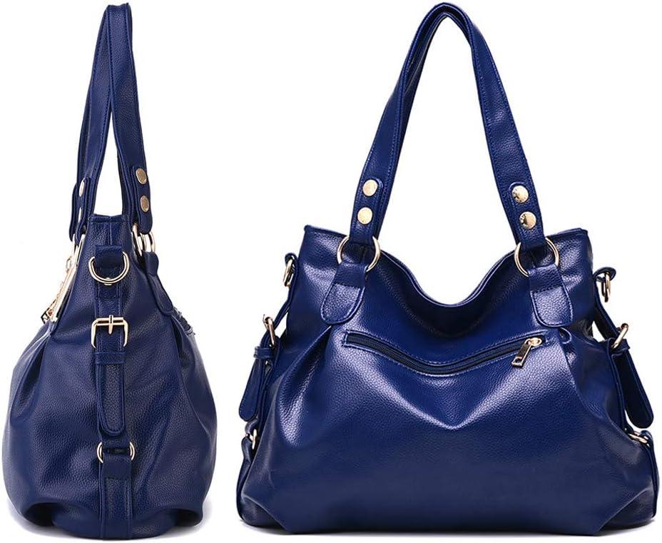 LHY EQUIPMENT Nappa Elegante Borsa da Donna Pelle Soffice Alta capacità Borsa Tote Bag per Lo Shopping/Incontri/Banchetti Blue