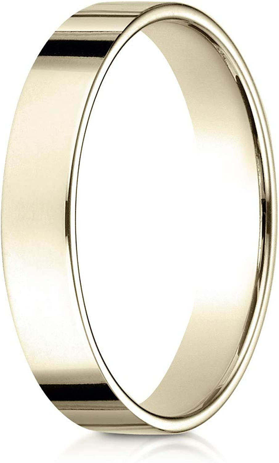 4MM Width Mens or Womens 14K Gold 18K Gold or Platinum Wedding Band