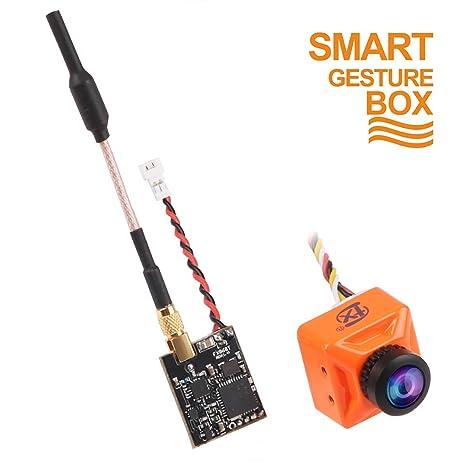 FPV Cámara 800TVL Lente 2.1mm NTSC / PAL 16: 9/4: 3 160 grados intercambiables con ...
