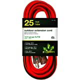 GoGreen Power (GG-14025) 12/3 25' SJTW Outdoor Extension Cord, Lighted End, 25 Ft