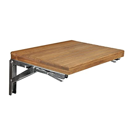 Teak Wall Mount Fold Down Shower Bench Seat 17 X 12 5 Stainless Steel Brackets