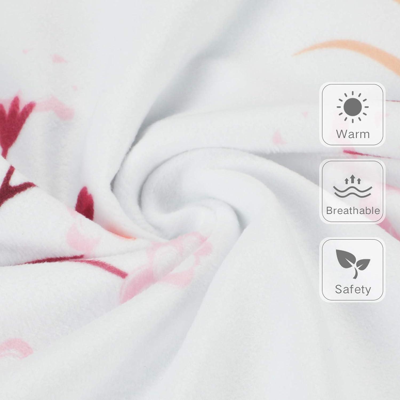 Yoofoss Babydecke Superbequem/75x100cm Kuscheldecke Weich und Doppelseitig Multifunktional Minky Dot Krabbeldecke f/ür Kinder Flauschige Kinderwagendecke Babydecke Sommer B/är, Blumen und Davidshirsch