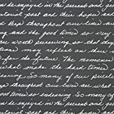 American Crafts DCWV 12'' x 12'' Loose Printed Paper - Silver Script Design - 25 Sheets